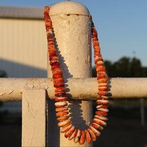 Orange Spiny Oyster Necklace